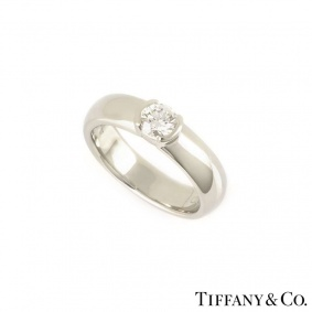 Tiffany & Co. Diamond Etoile Ring in Platinum 0.40ct G/VVS2